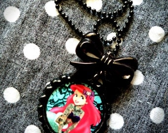 Tattooed Mermaid necklace