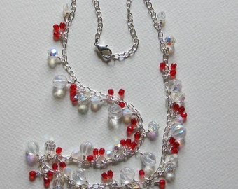 White-Red-Art-Glass-Necklace