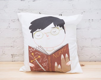Geek Boy Pillow Cover - Throw Pillow Cover - Cushion Cover - Ecofriendly