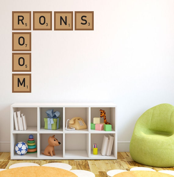 Scrabble Pieces Wall Decor : Items similar to personalized scrabble pieces wall decal