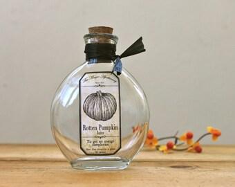 Halloween Pumpkin Apothecary Bottle
