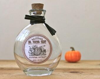 Pumpkin Extract Apothecary Potion Bottle Halloween