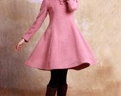 cashmere winter dress cashmere winter jacket cashmere dress pink dress wool dress