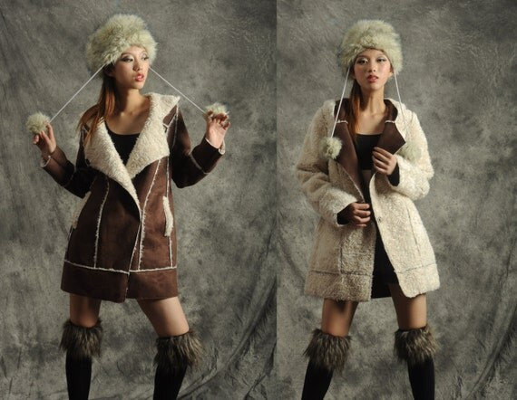 Shearling jacket---- leather faux fur  Lambs hairs cotton-padded jacket coat winter jacket suede jacket winter dress winter coat