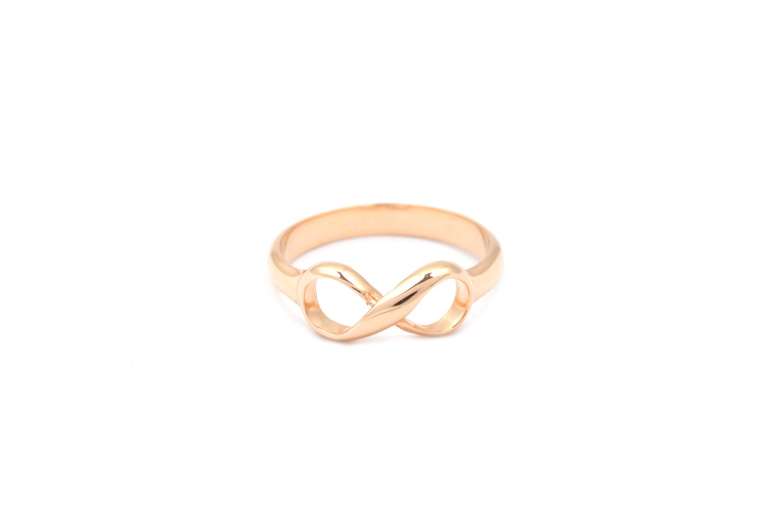 Tiffany & Co Inspired Infinity Ring Rose gold over by MimicDesign