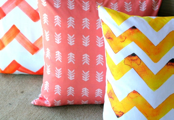 Items similar to Anthropologie Inspired. Arrow Pillow. Modern Decorative Pillow Cover 20x20 ...