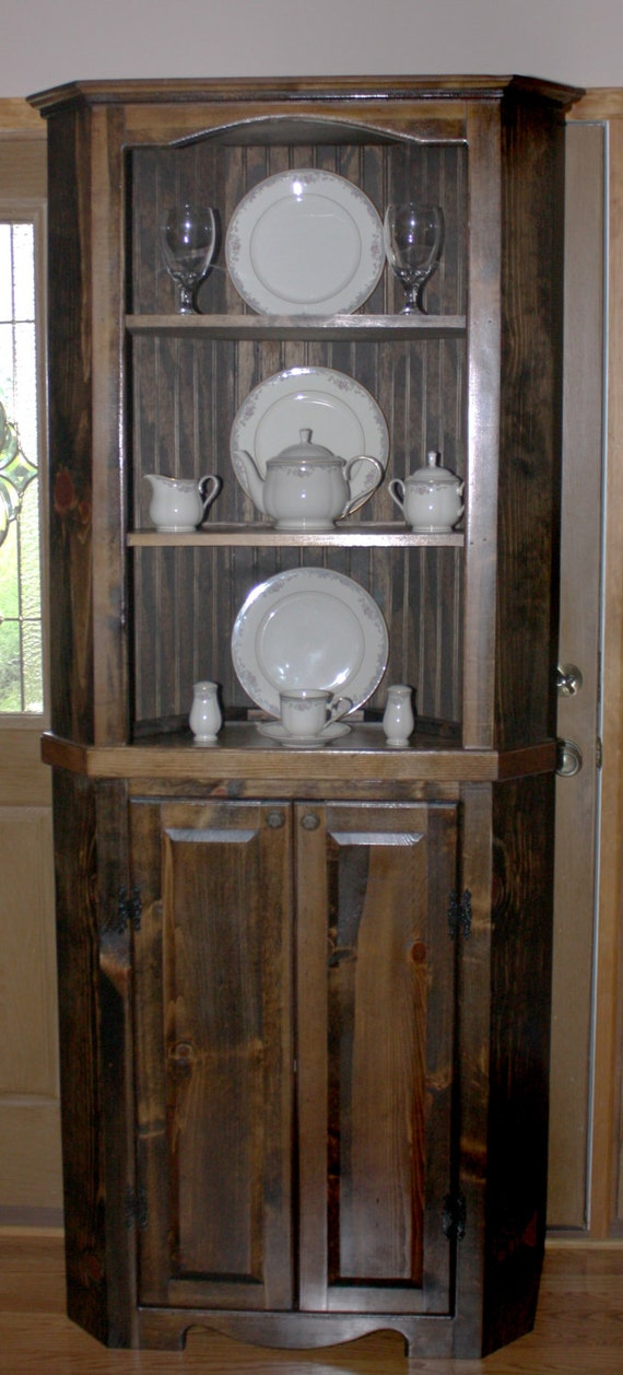 Hutch Curio Corner Free Shipping Rustic Primitive China