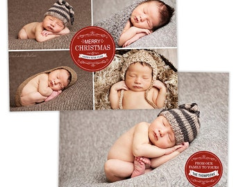 Christmas Card Template for Photographers Photography Photo Card Template - HC214