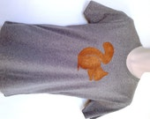 Squirrel T-shirt - Men's printed T-shirt, bronze squirrel, ethically made and eco friendly