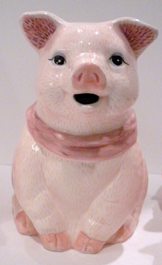 Pink Pig Tea Pot With Matching Tea Cups Pig Pitcher By
