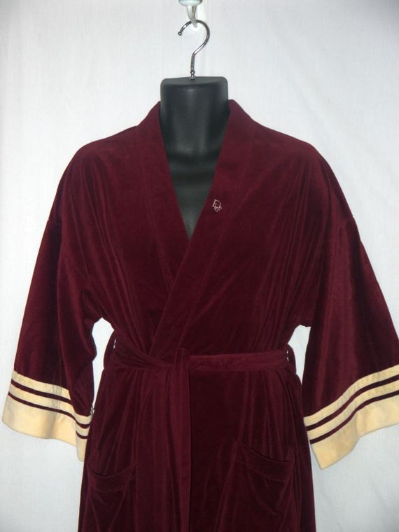 Vintage 70s Christian Dior Robe 1970s Mens By Wingmanvintage