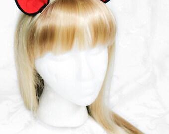 Anime Pony Kitty Fleece Clip on Ears - Red Ears