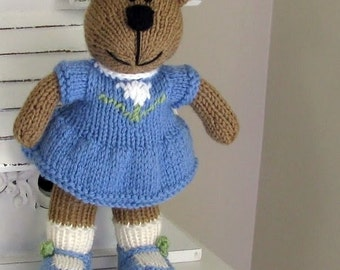 Hand Knitted Teddy Bear - Small Toy - Kids Toys - Plush Doll - Child Toy - Stuff Animal - Knit Toy  - Stuff Bear - Stuffed Animal - Madeline