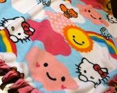 HELLO KITTY tie blanket