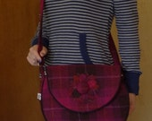 Unique Harris tweed bag, large tweed tote, Outer Hebrides tweed bag, tweed bag, Scottish tartan shoulder bag, tartan cross body bag