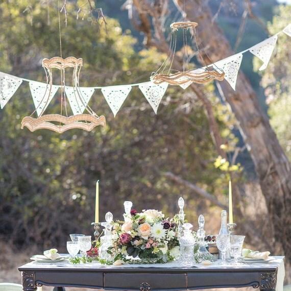 Ivory vintage style wedding garland,  sample flag