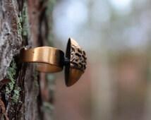 Modernist bronze ring signed Pentti Sarpaneva, Finnish design, c.1960s bronze statement ring
