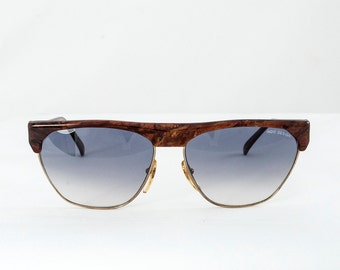Pierre Cardin Vintage. Clubmaster Style  90s Sunglasses. Rare Edition.