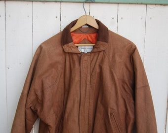 CLASSIC BROWN Leather Fitted Soft Leather Tan Camel Jacket Coat