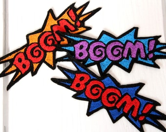 Limited: BOOM! Design for Embroidery,  Multiple Formats Available