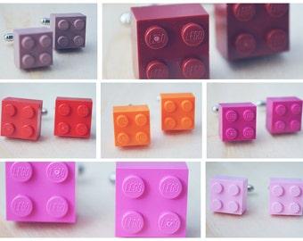 Cufflinks for Dad - Stocking Stuffers for Men - Dad Gifts for Christmas - Lego Cufflinks - Holiday Attire - Red Cufflinks - Pink Cufflinks