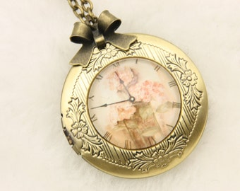 Clock Necklace, Clock locket, 2020m