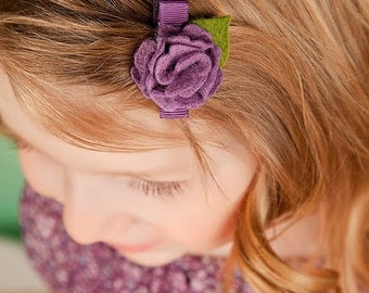 Small Felt Flower Baby Hair Clip Toddler Hair Clip Baby Bow Hair Bow Clippie Headband Newborn Headband Hair Clips for Babies Little Petite