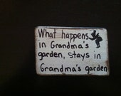Signs for your fairy garden, Custom made distressed white signs