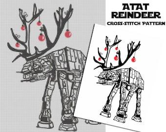 Star Wars ATAT Reindeer Cross Stitch Pattern