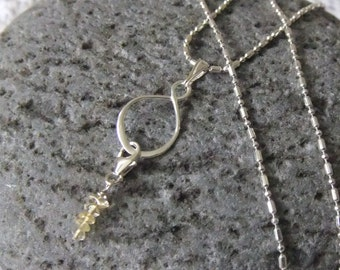 Citrene Infinity Sterling Necklace