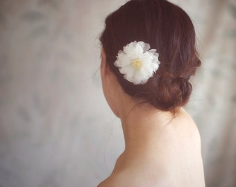 Bridal Hair Accessories - Wedding Hair Flower Headpiece - Floral Headpiece - Ivory Hair Flower - Style FL1317