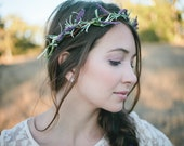 RESERVED FOR SARAH - Lavender Fields Hair Wreath - Floral Crown, Headband, Circlet - Wedding, Bridal, Flower Girl