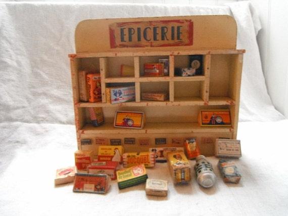 Magasin de jouets vintage fran ais minature vieilles bo tes - Epicerie ancienne jouet ...