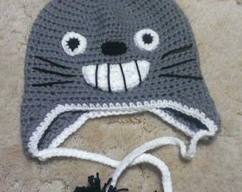 Crochet Pattern Totoro Hat : Popular items for crochet totoro on Etsy