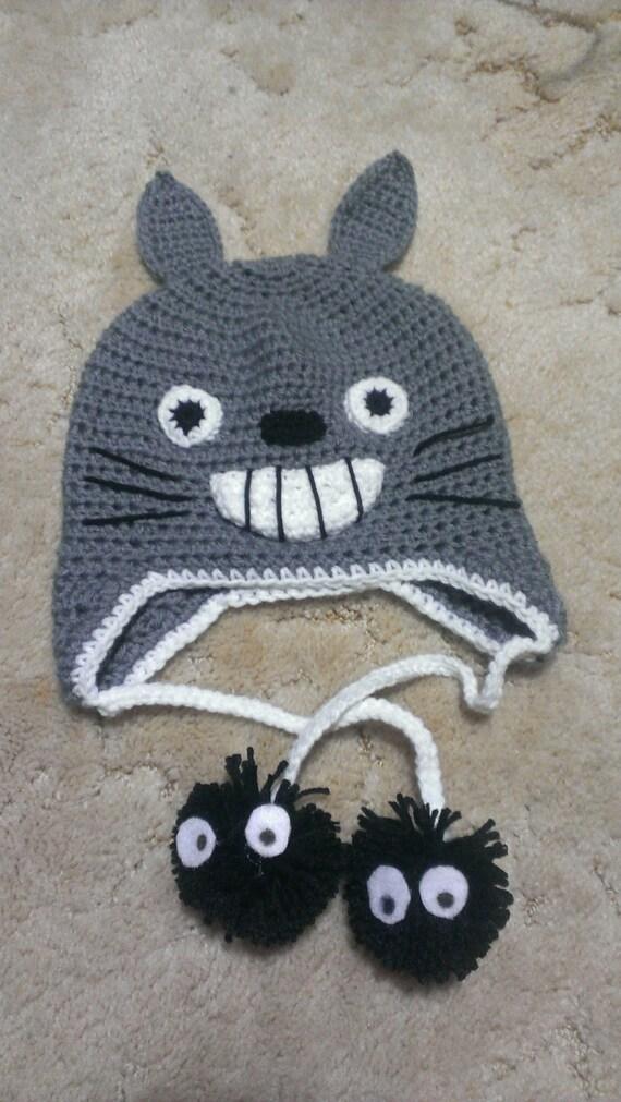 Crochet Pattern Totoro Hat : Items similar to Crochet Totoro Hat on Etsy