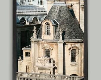 Paris fine art photography 24x36, large wall art, architecture art, Paris print, black beige, living room decor, large poster, 16x24, 20x30