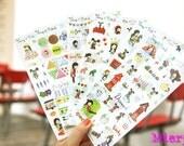 North Europe Sticker Set - Diary Sticker - Deco Sticker - Korean Sticker - 6 sheets