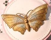 Vintage Brass Butterfly Brooch (c1930s)