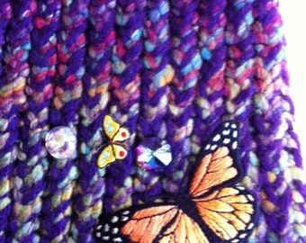 Hand Knitted Butterfly Hat