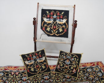 KIT for miniature Needlework stand with William Morris tapestry