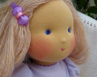 """Waldorf doll - """"Lilac flower2"""" -15-16 inches, custom dolls for children from 5 years old, daughter of a gift"""