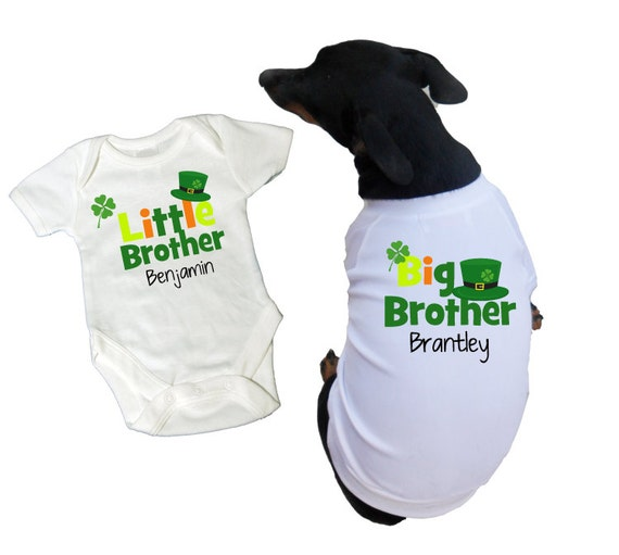 Big Brother Little Brother Dog Tees