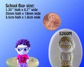 Boy Mold Flexible Silicone - School Boy - Genius - Resin - Polymer Clay - FOOD Safe - Fondant - Chocolate - Candy - S360M