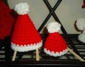 2 Piece Set of Adorable Mini Santa Hats