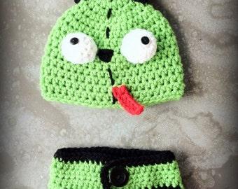 Boo Crochet Monster Photo Prop baby set by HandMadeByDz