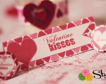 Valentine Tent Cards Food Labels