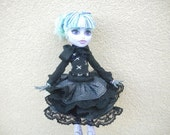 Gothic Lolita Outfit made to fit Monster High Dolls Choose Your Doll Size