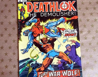 Vintage Marvel Comics - Deathlok the Demolisher - Vol 1 issue 27 - VG 1974