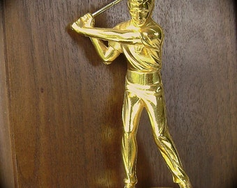 Golf Trophy, Golfer, Man, Father, Wall Plaque, Gold Trophy, Tee Off, Linksman, Driver, St. Louis, Closest to the Hole