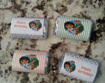 Go Diego Go! Birthday  Mini Candy Bar Wrappers